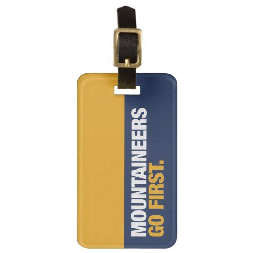 WVU Mountaineers Go First Luggage Tag | Zazzle.com #wvumountaineers