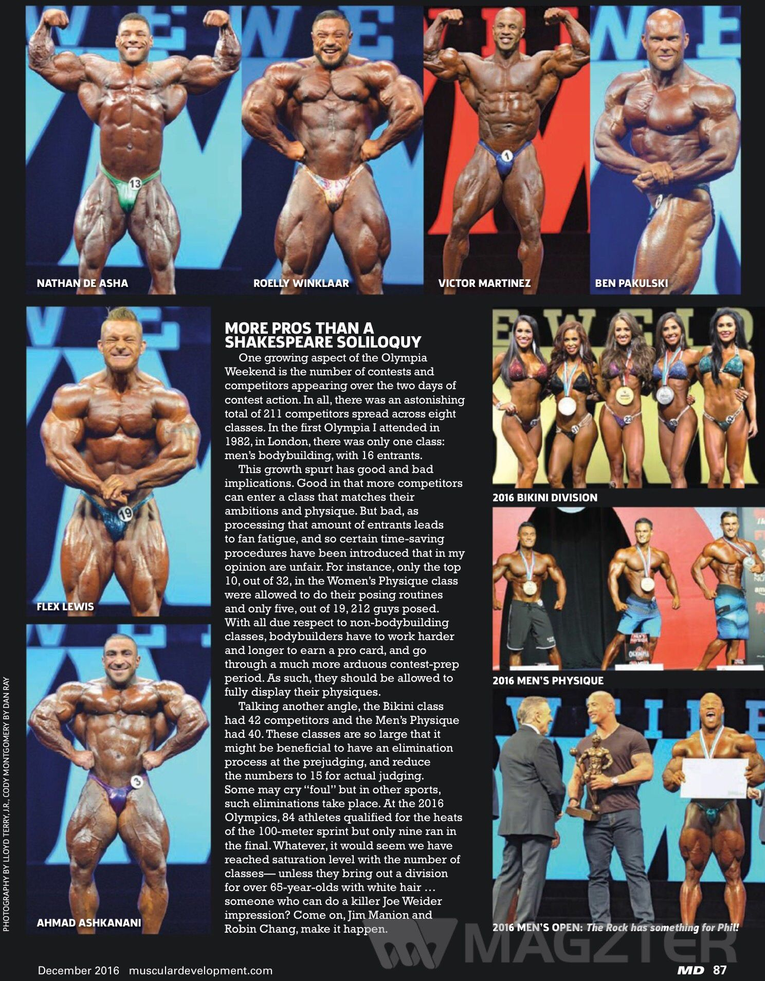 December 2016 edition of Muscular Development #IFBBPRO #BODYBUILDING #OLYMPIA #STAGEPHOTOGRAPHY