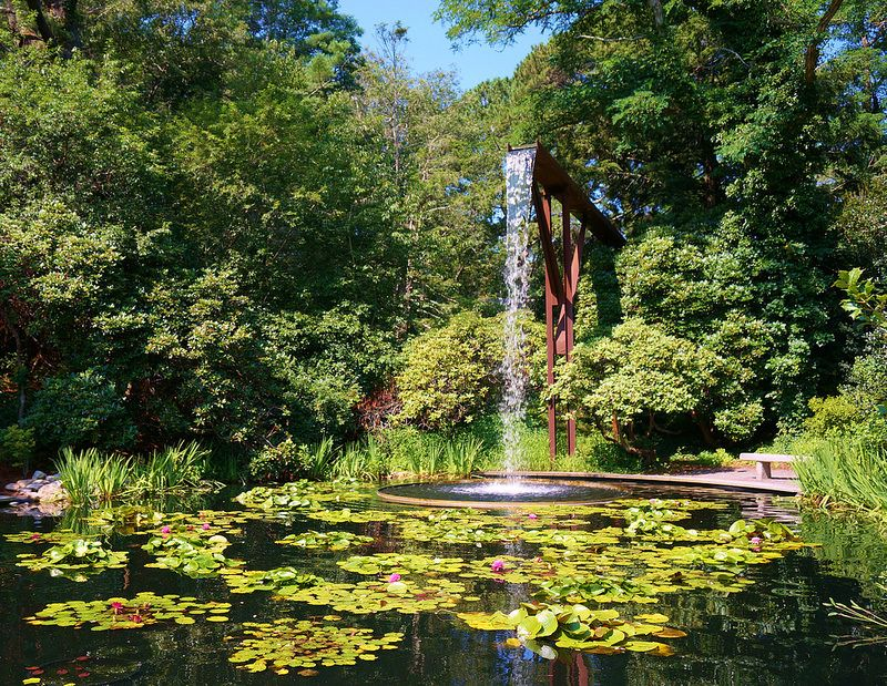 Heritage Museums & Garden, Sandwich, MA Waterfall with
