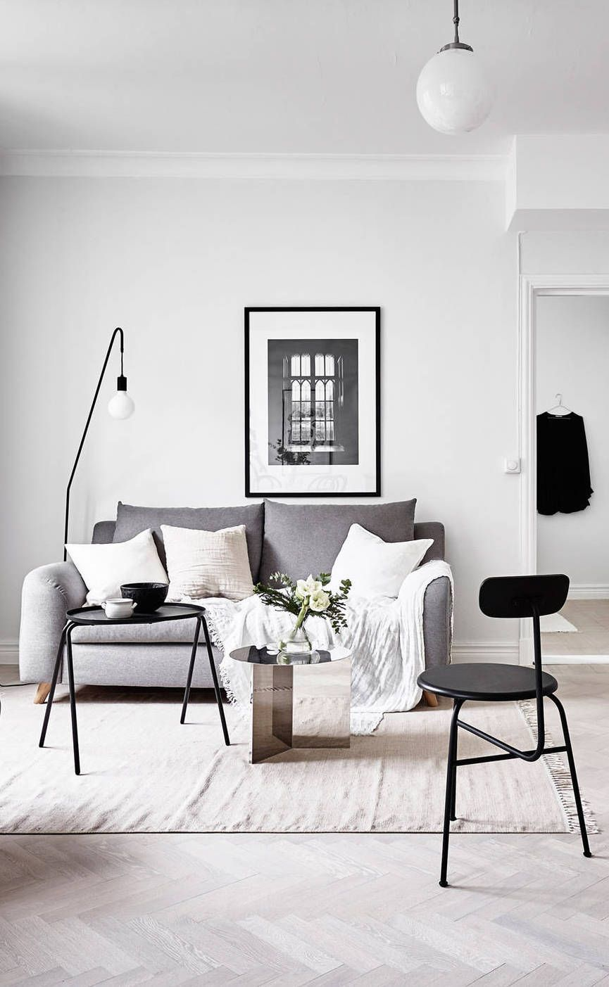 Artistic Living Room Decor: Great Artistic Black And White Modern Living Room Ideas