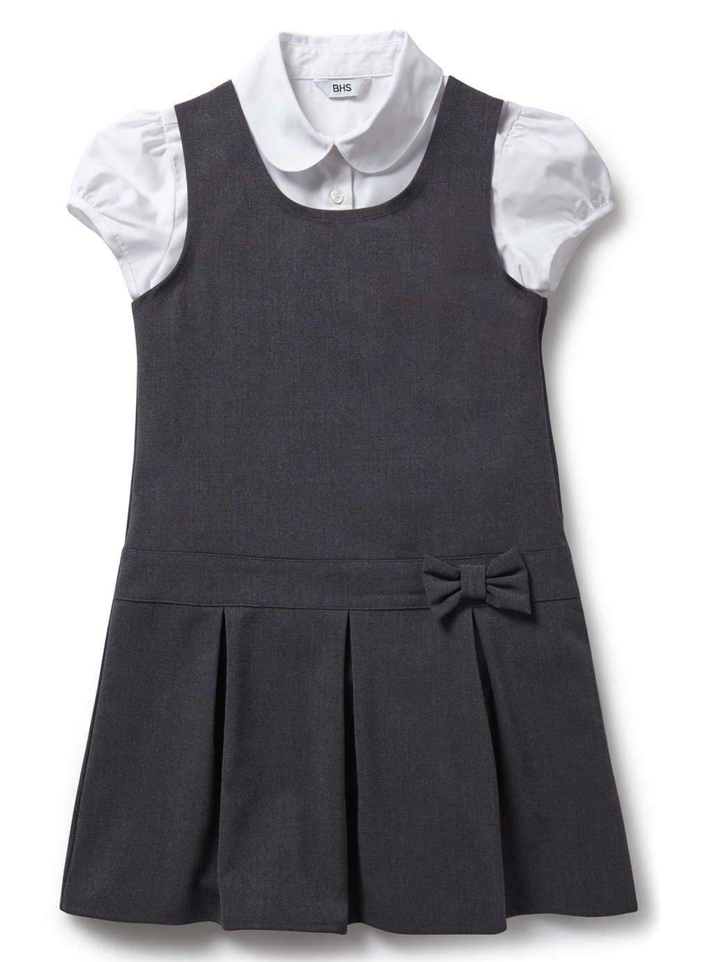 Junior Girls Charcoal School Pinafore and Blouse Set | School Chic ...