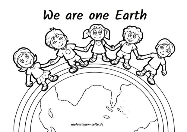 Malvorlage We Are One Earth Ausmalbilder Ausmalbilder Kinder Kostenlose Ausmalbilder