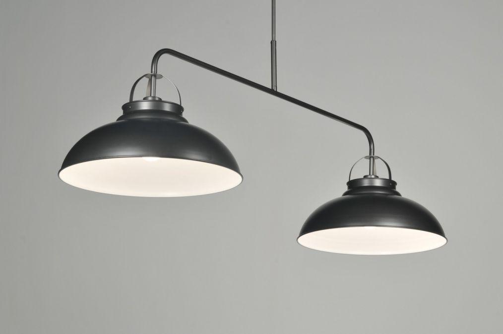 Stoere Energiezuinige Lampen : Stoere industriële hanglamp uitgevoerd in mat antracietgrijs de
