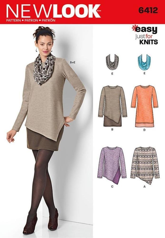 New Look Nähmuster Damen \'einfach nur für Strick size 8 - 20 6412 ...