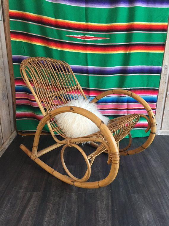 Bamboo Rocking Chair Franco Albini Style By GreatLakesModern
