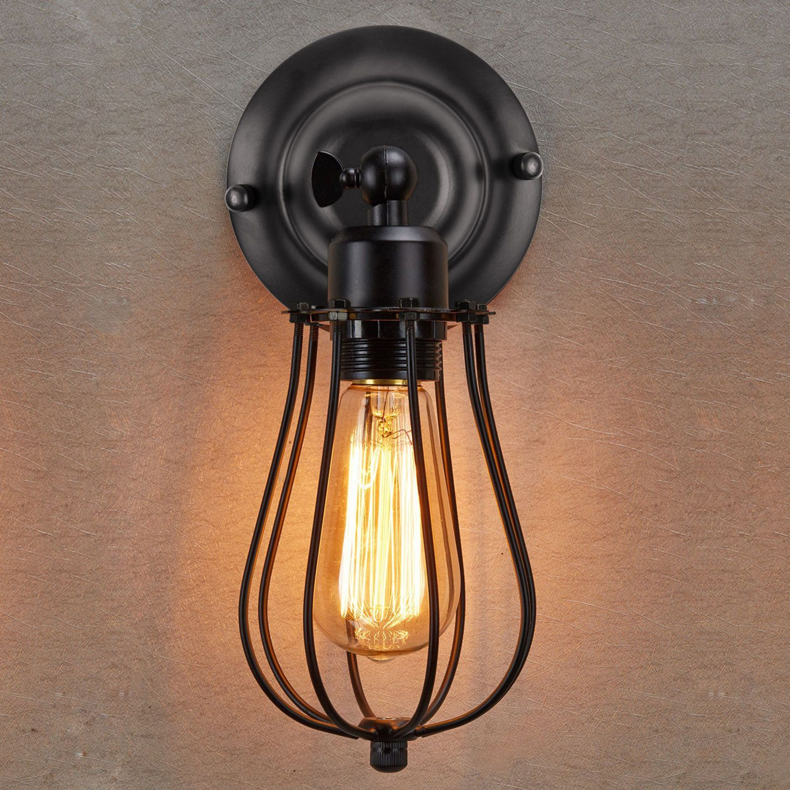 355 aud industrial loft style wall lamp cage wall sconce vintage 355 aud industrial loft style wall lamp cage wall sconce vintage light antique fixture ebay home garden arubaitofo Choice Image