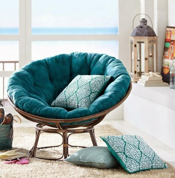 Superbe Modern Living Decor With Papasan Chairs, Living Room Furniture