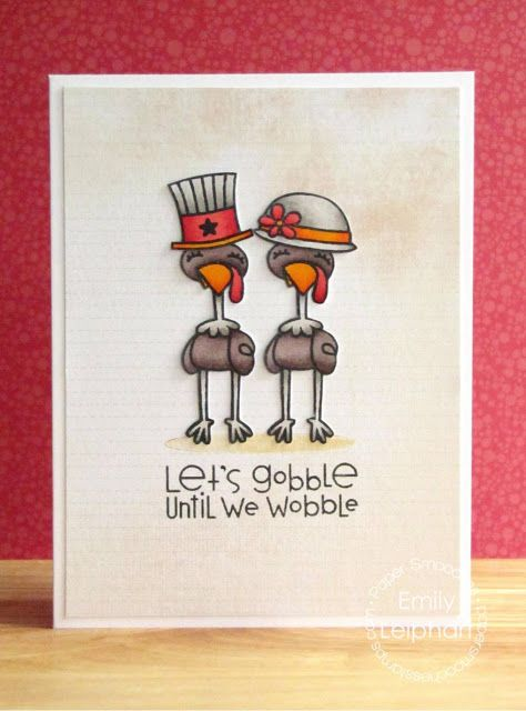 Virtual Smooches Happy Thanksgiving With Noggin Toppers And Jive Turkey Paper Smooches Card Drawing Smooching