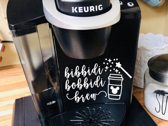 Bibbidi Bobbidi Brew! This Disney Keurig Decal Will Make Your Mornings More Magical #disneykitchen
