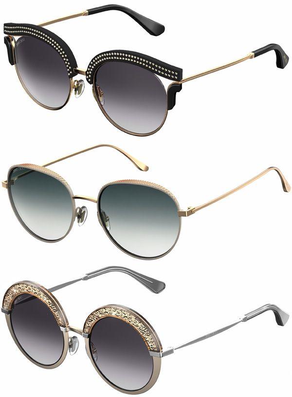 46f1c5f637e68 Brilhos da Moda  Óculos de Sol Jimmy Choo Outono Inverno 2016 2017 ...