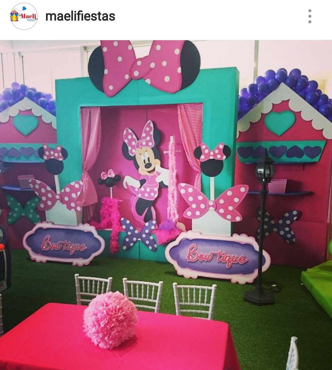 minnie 39 s boutique birthday party minnie mouse birthday. Black Bedroom Furniture Sets. Home Design Ideas