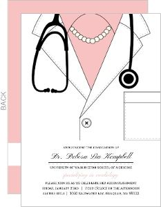 Pink doctor coat medical school graduation invitation graduation pink doctor coat medical school graduation invitation filmwisefo Image collections