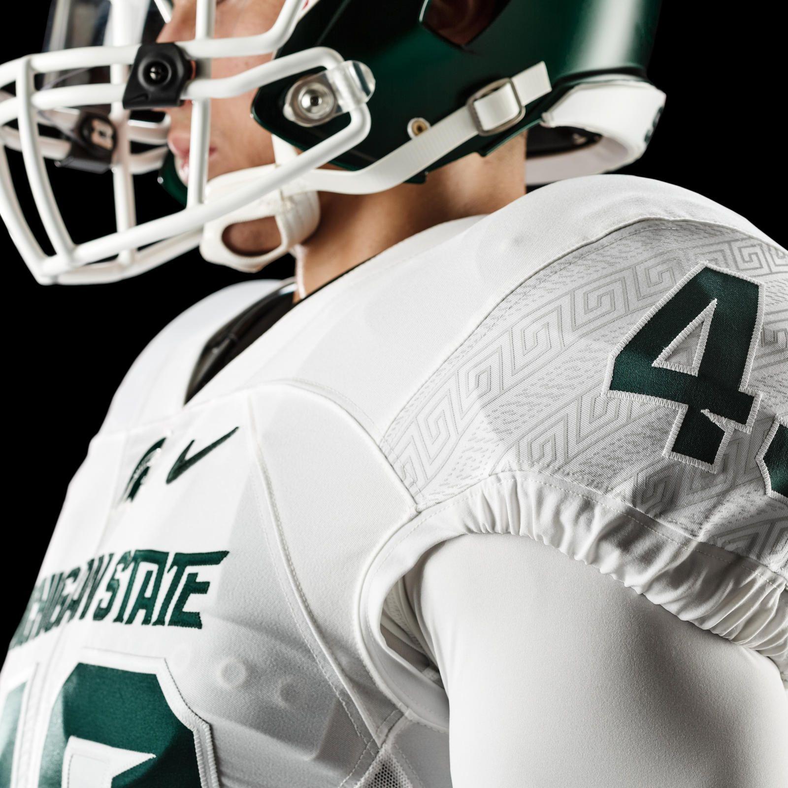 Michigan State Football Updates Nike Uniform Design Michigan State Football Football Updates Uniform