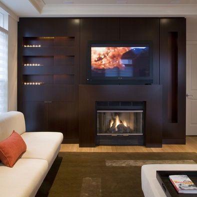 Incluir una chimenea televisi n en tu sala de estar - Modelos de chimeneas electricas ...