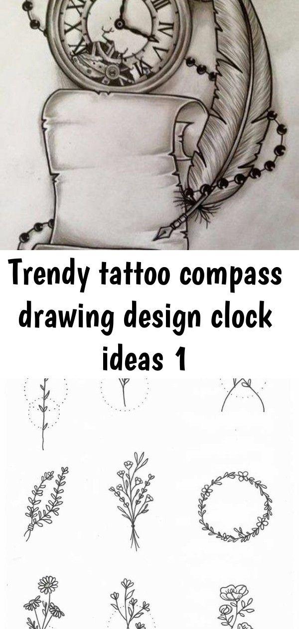 Trendy tattoo compass drawing design clock ideas 1 Trendy Tattoo Compass Drawing Design Clock Ideas -  - Design tattoo drawing ink sketch 30+ ideas Tattoo Flower Blackwork Floral 28 New Ideas