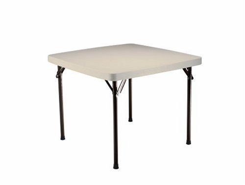 Lifetime Card Table With 37 Inch Square Molded Top Almond By