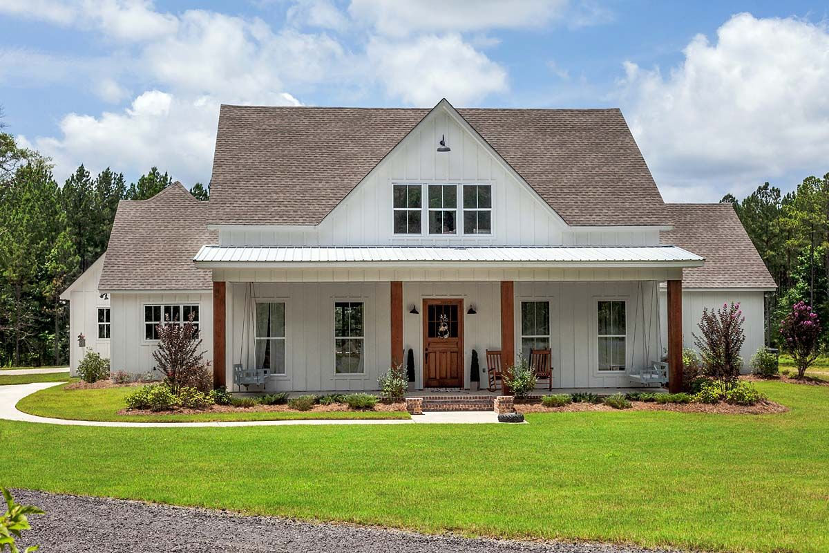 Traditional Style House Plan 74641 with 5 Bed, 4 Bath, 3 ...