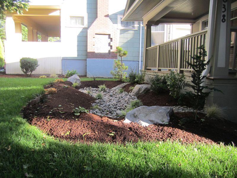 Landscape Designs · Front Yard Rain Garden