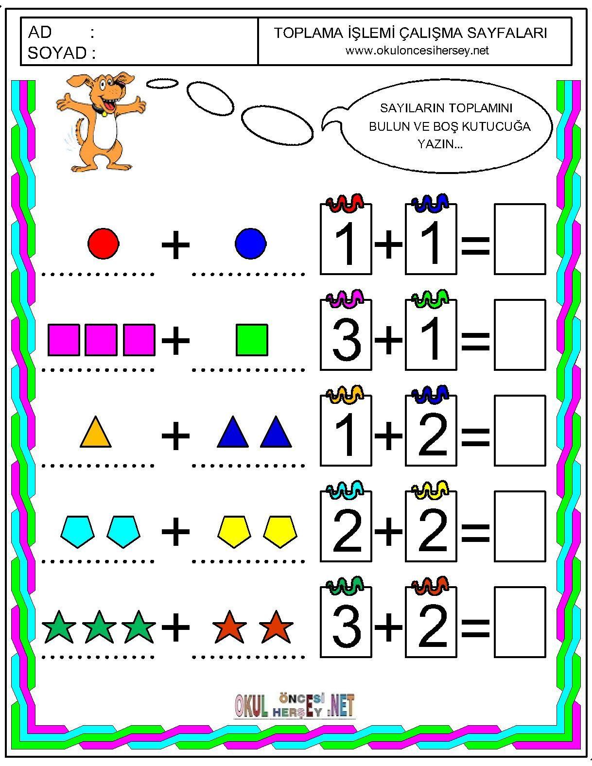Okul Oncesi Cizgi Calismalari Okul Okul Oncesi Matematik