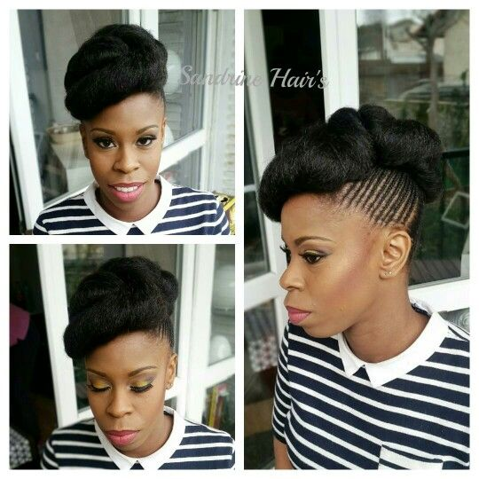 Wedding Hairstyle Natural Hair Coiffure Mariee Sur Cheveux Crepus Coiffure Coiffures Nappy Cheveux Crepus