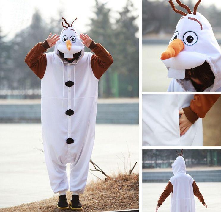 PajamasBuy - Disney Frozen Olaf Snowman Adult Kigurumi Onesies Pajamas  Costume 93bd3794f
