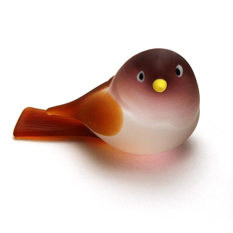 Purple Glass Bird Figurine Animals Glass Bird Sculpture Art Glass Toy Murano Animals Collectible Bird Figure Glass Blowing Art Gift Birds