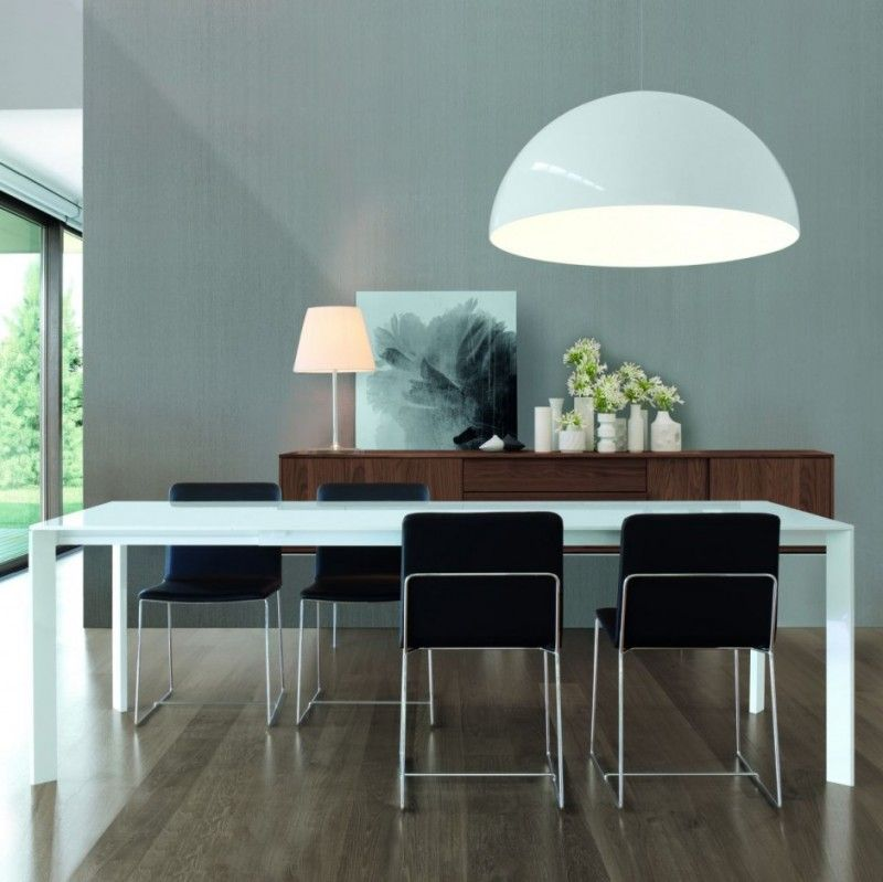 marvelous italian lacquer dining room furniture. LOVE The Warm Walnut Wood Tones Of Modern Floating Sideboard Next To Minimalist White Lacquered Dining Room Table. Marvelous Italian Lacquer Furniture S