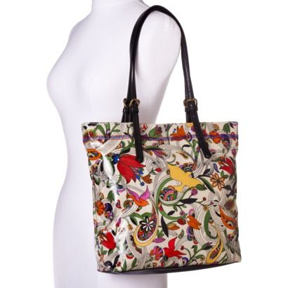 Merona Natural Bird Shopper Handbag