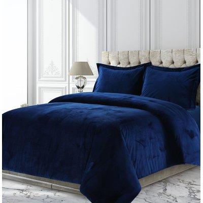 Greyleigh Shropshire Solid Oversized Reversible Duvet Cover Set Duvet Cover Sets Duvet Bedding Velvet Duvet