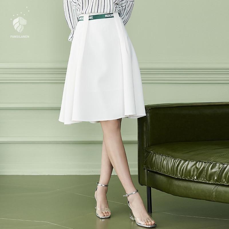 9325d045356e6 Summer Spring Women Skirts Skirt Plus Size Loose Knee-Length Solid White  Black  womensclothing  dresses  womens  swimsuits  weddingdresses   promdresses