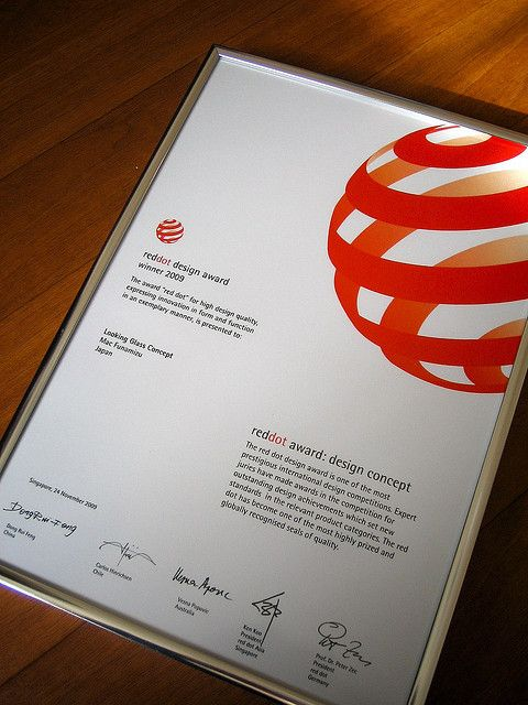 red dot award certificate certificate design pinterest