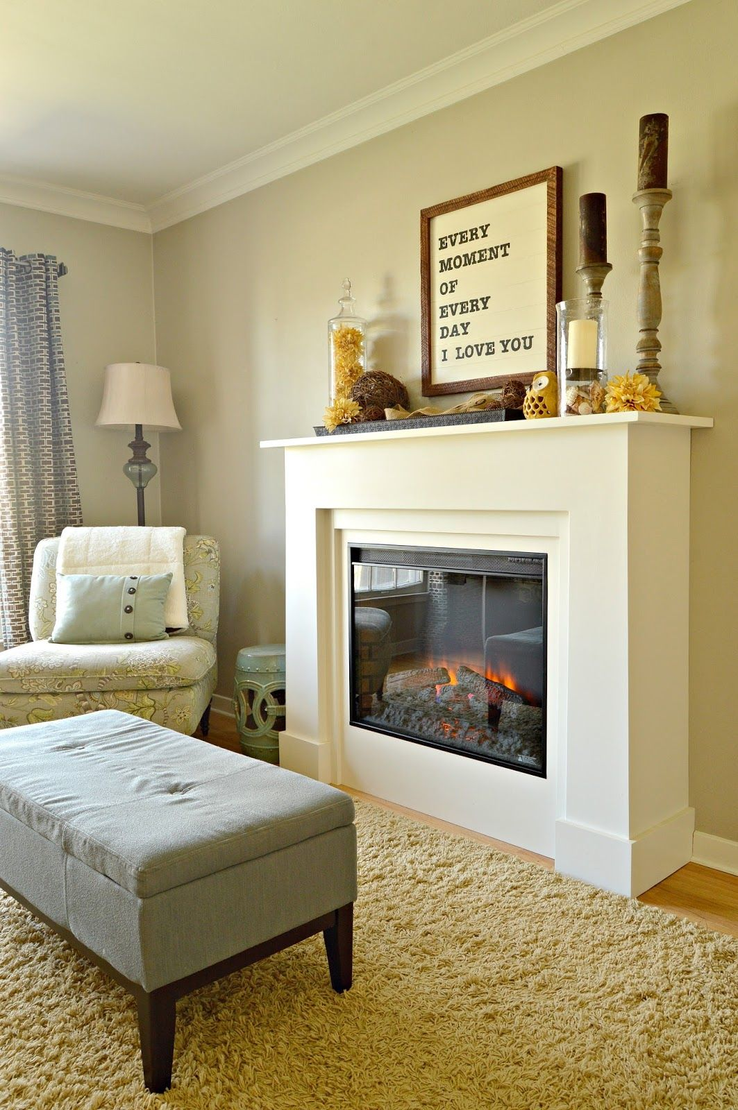 Electric fireplaces and Living rooms
