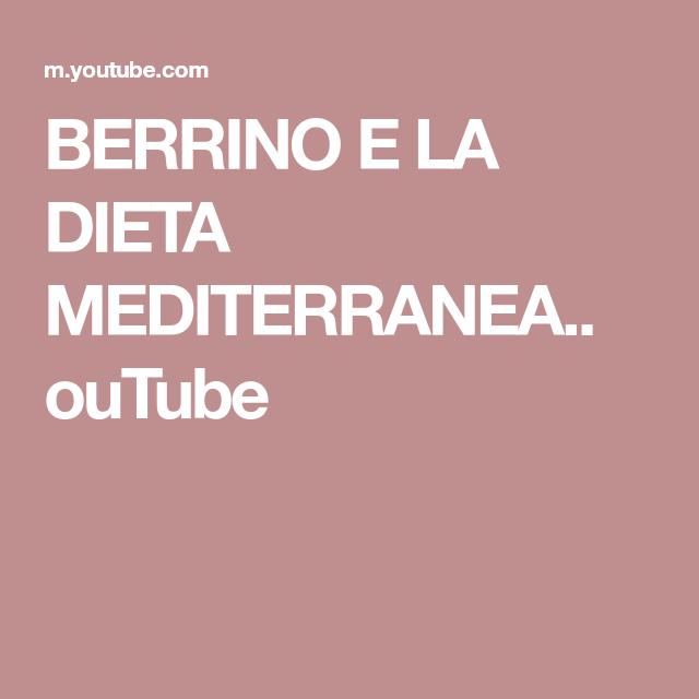 la dieta mediterranea riassunto breve