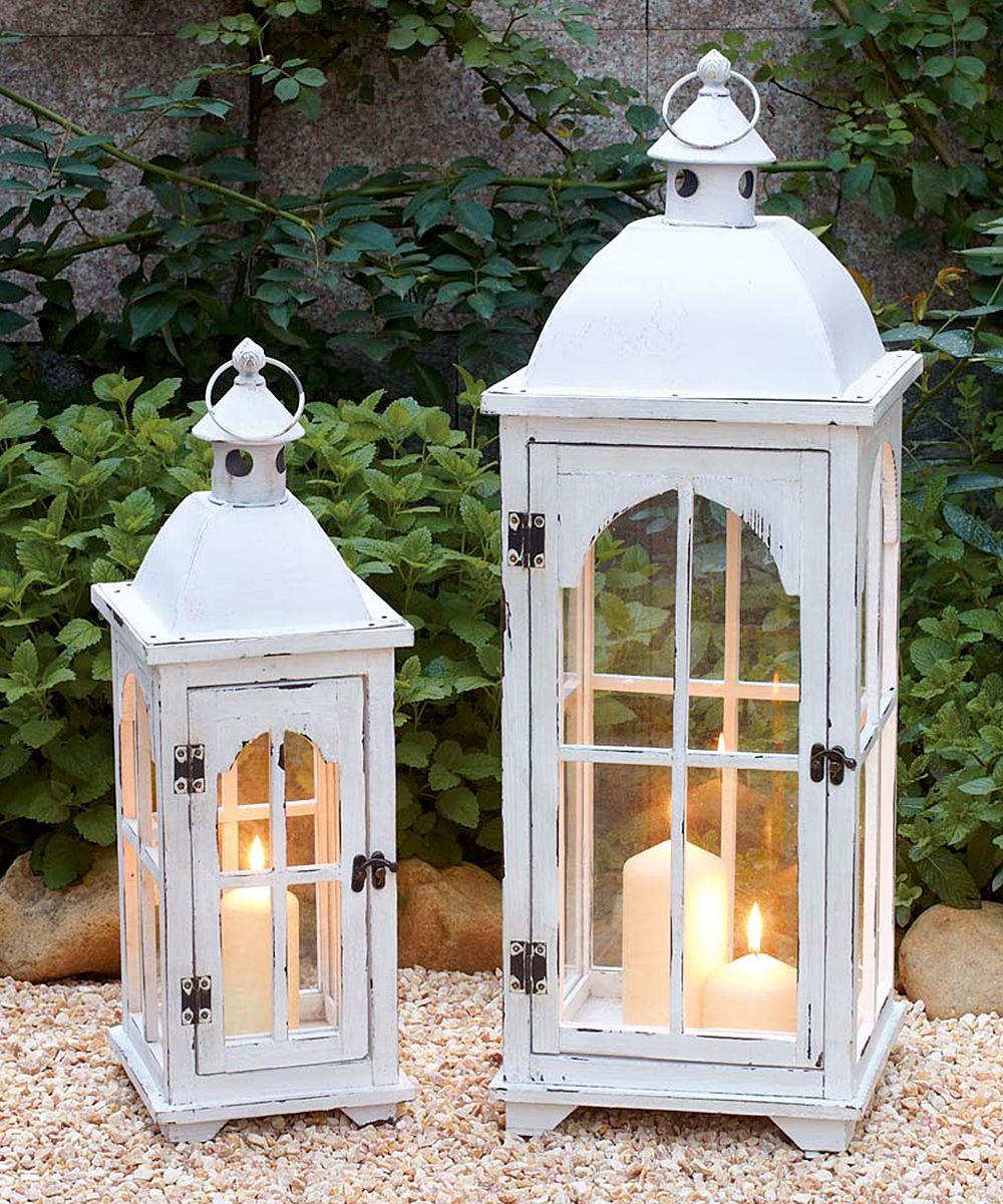 White lantern candleholder set quot fashion gifts foods