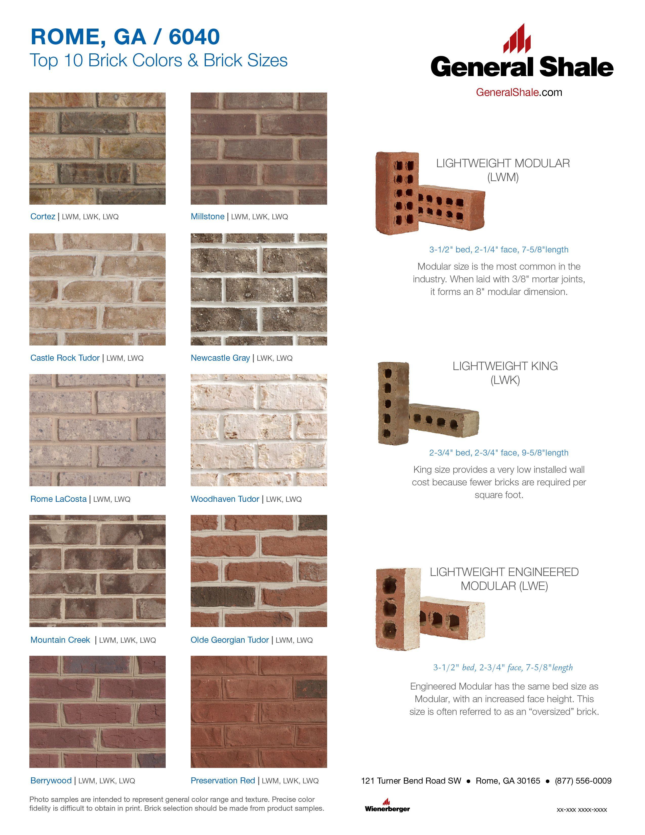 Rome Top 10 Brick Colors Brick Colors Exterior House Colors Brick