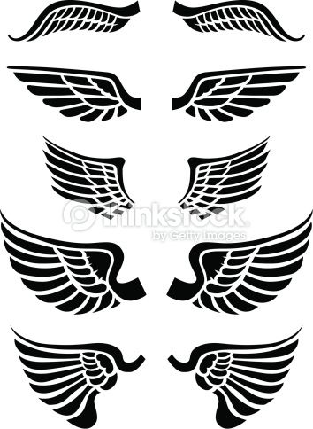 a set of vector wings to be used with logos type or images combine vector art illustration vector art wings vector art illustration