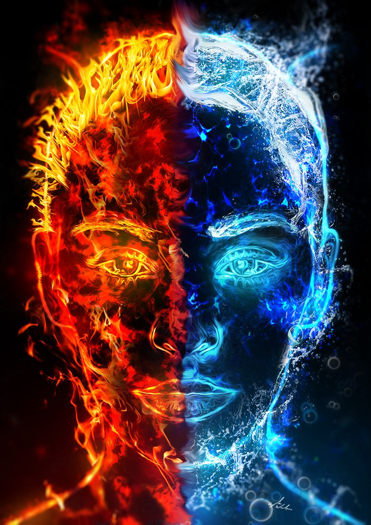 The Sons Of Fire And Water Fire Art Fire And Water Art Water Art Astonishing fire and ice wallpapers