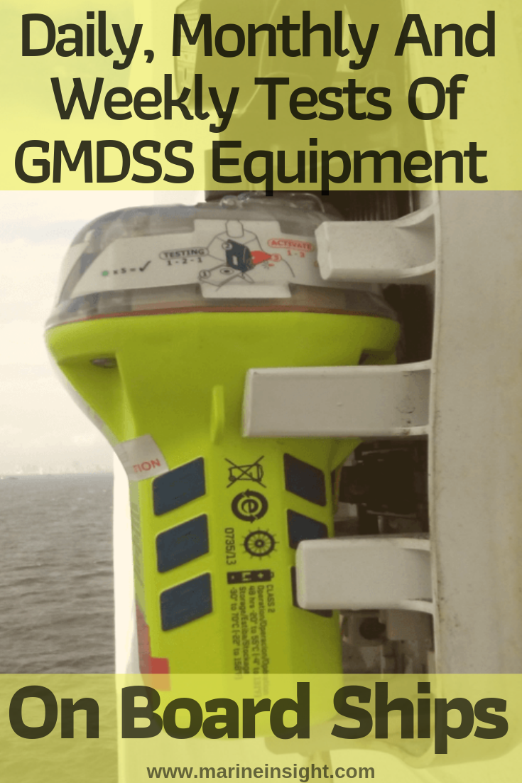 Daily, Monthly And Weekly Tests Of GMDSS Equipment On