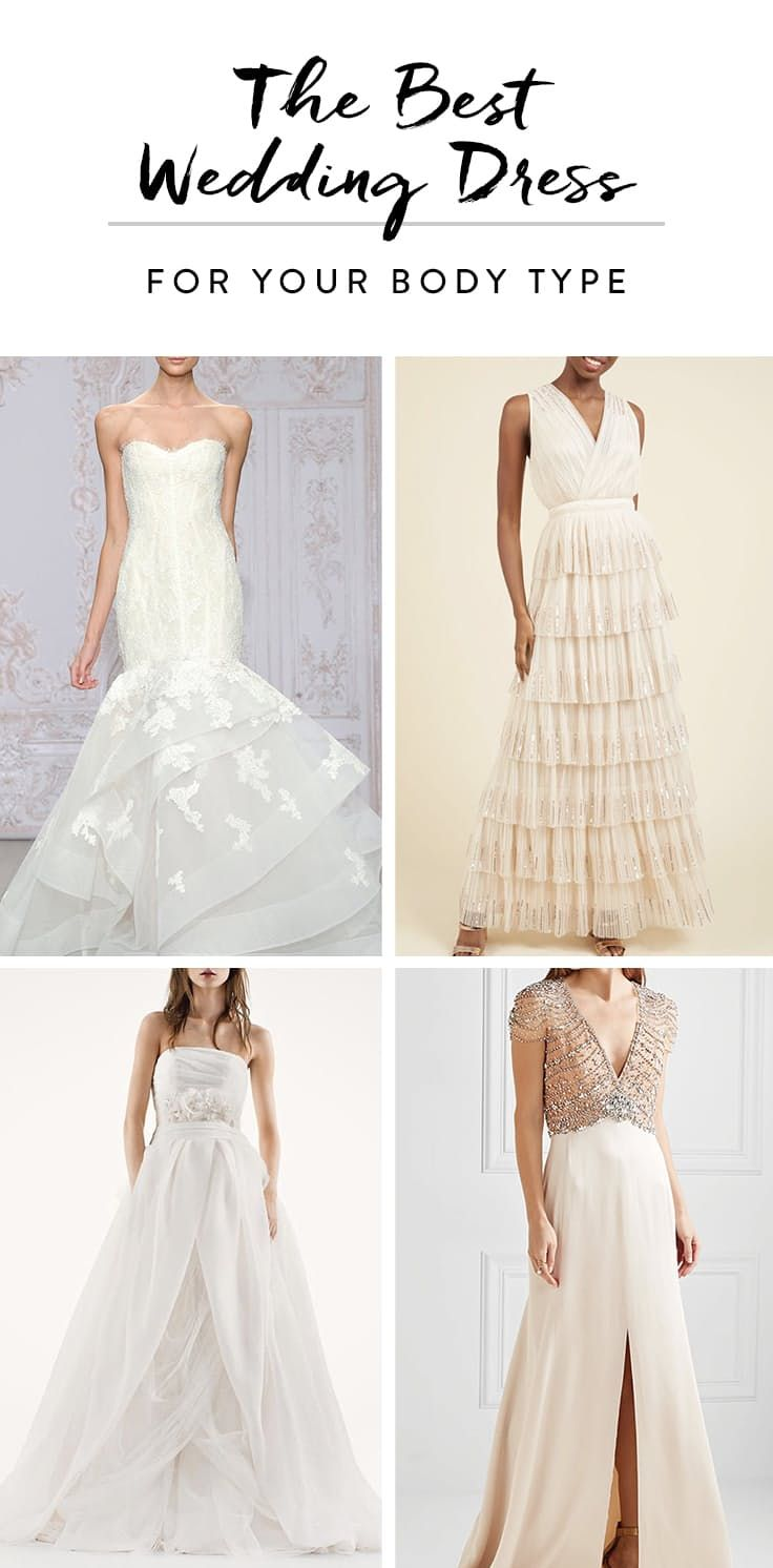 The best wedding dress for your body type fashion tips pinterest