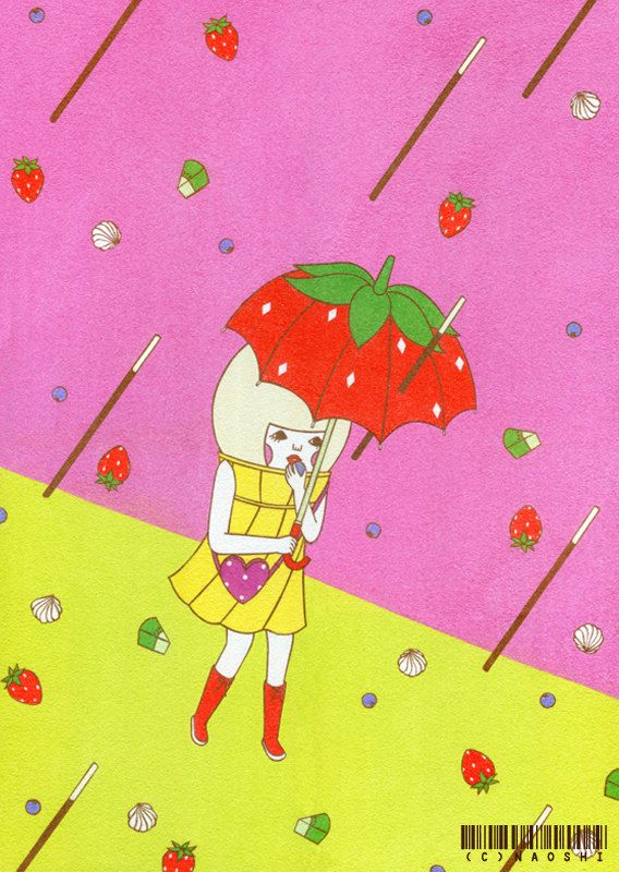 Sweets Typhoon Limited Edition Print by Naoshi on Etsy, $20.00