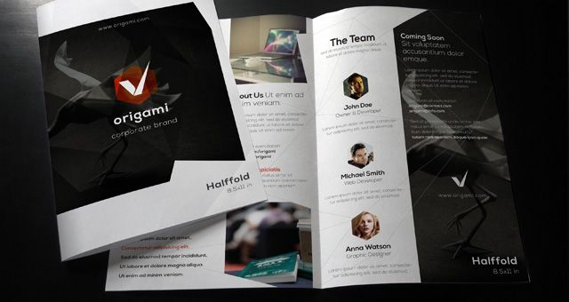 Origami Flyer Design Graphic Design Ideas Pinterest Brochure - Company brochure template free