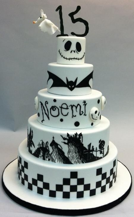 Gorgeous Nightmare Before Christmas Quincea 241 Era Cake My