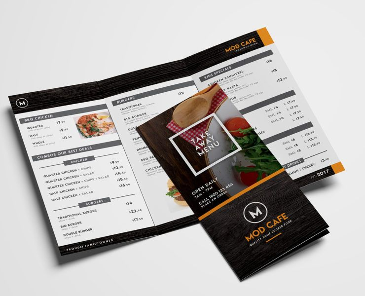 free trifold menu template for photoshop illustrator if you re