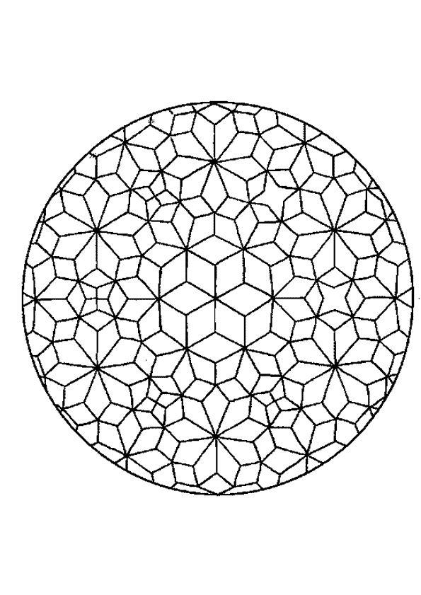 Kleurplaat Mandala 7206