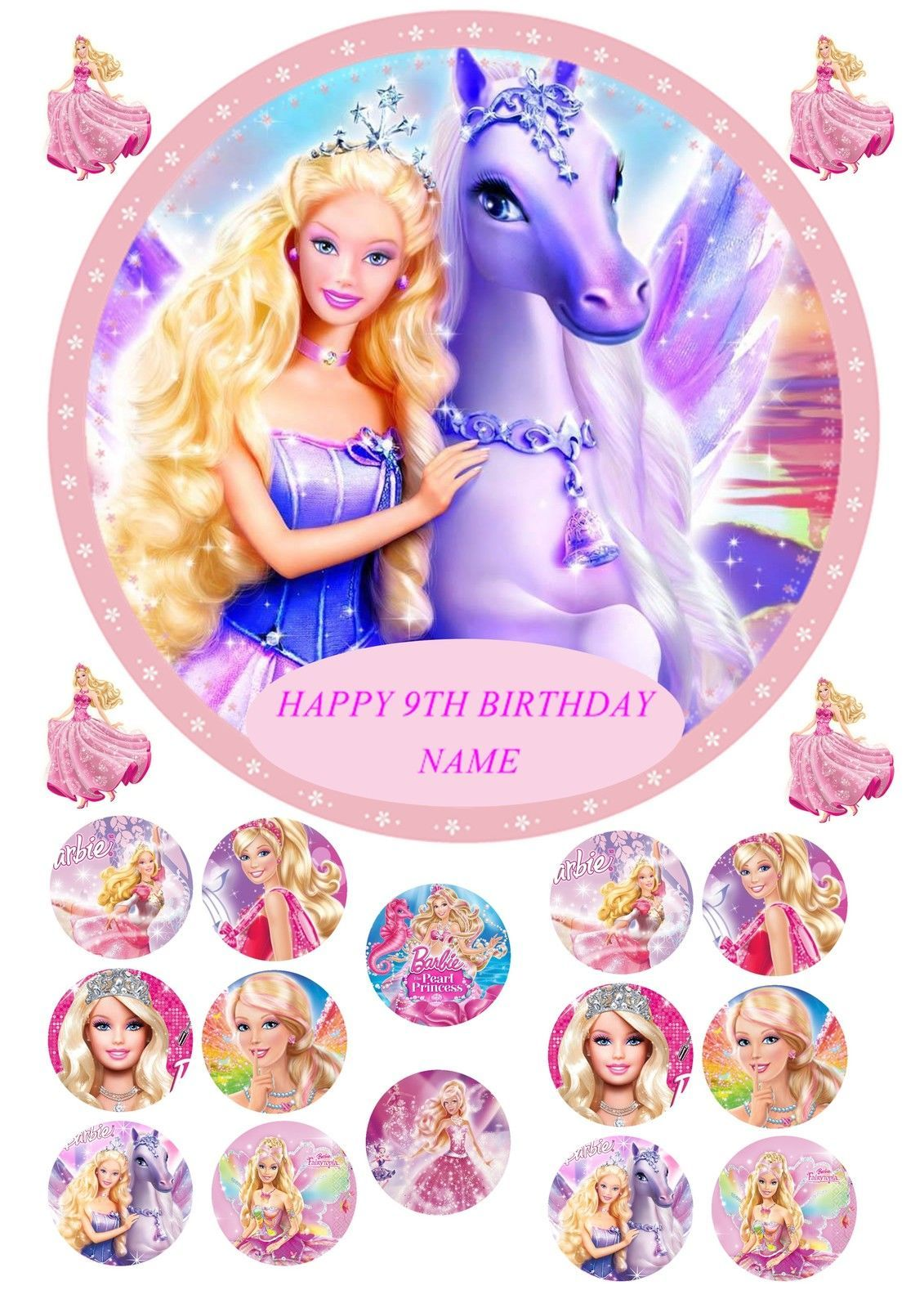 """18th Birthday Boy Or Girl Personalised Cake Topper Edible Wafer Paper 7.5/"""""""