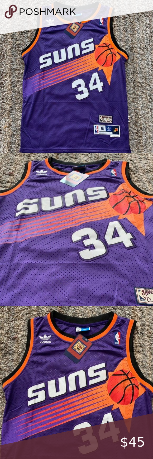 Charles Barkley Phoenix Suns Retro Purple Jersey 1 Brand New With Tags 2 All Items Fit True To Official Size 3 Charles Barkley Shaquille O Neal Phoenix Suns
