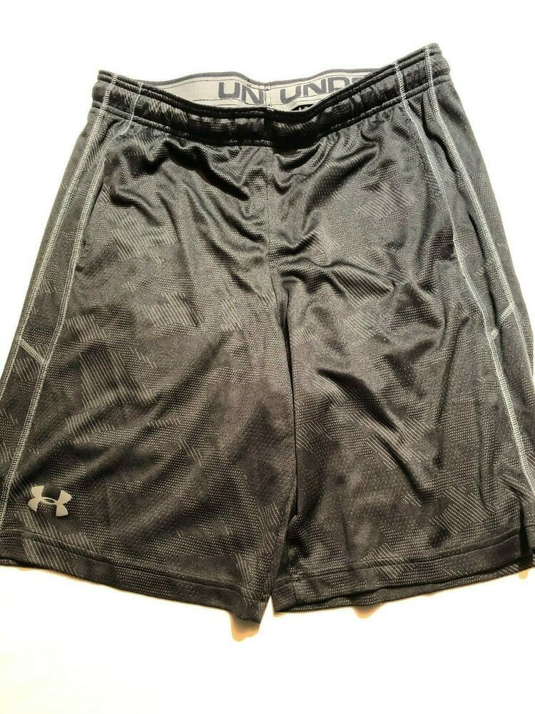 74bb842892 Under Armour Mens Heat Gear running Shorts Black Size Large #fashion  #clothing #shoes