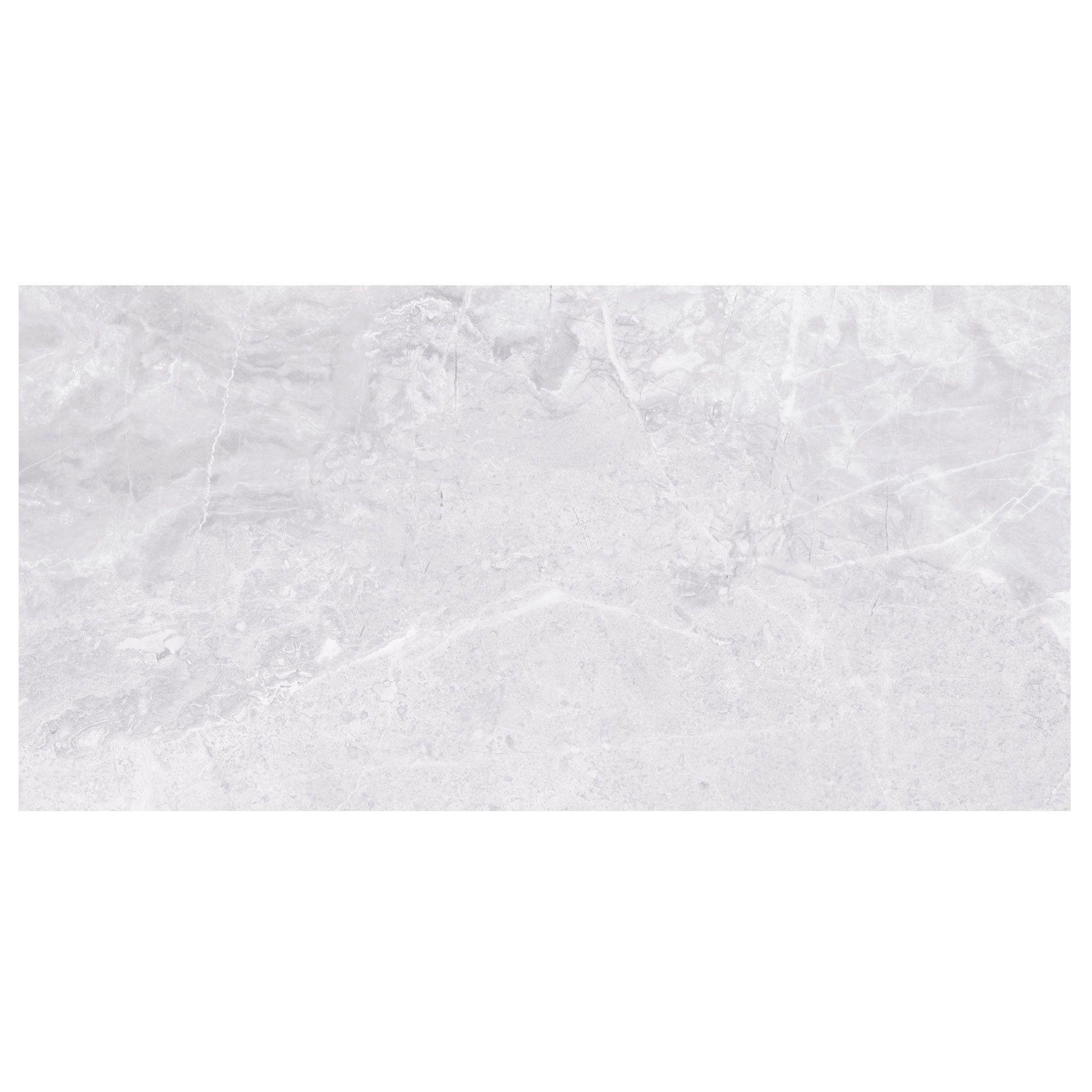 Levanto White Ceramic Wall Tile Pack Of 10 L 250mm W: Silverthorne Mist Marble Stone Effect Ceramic Wall Tile