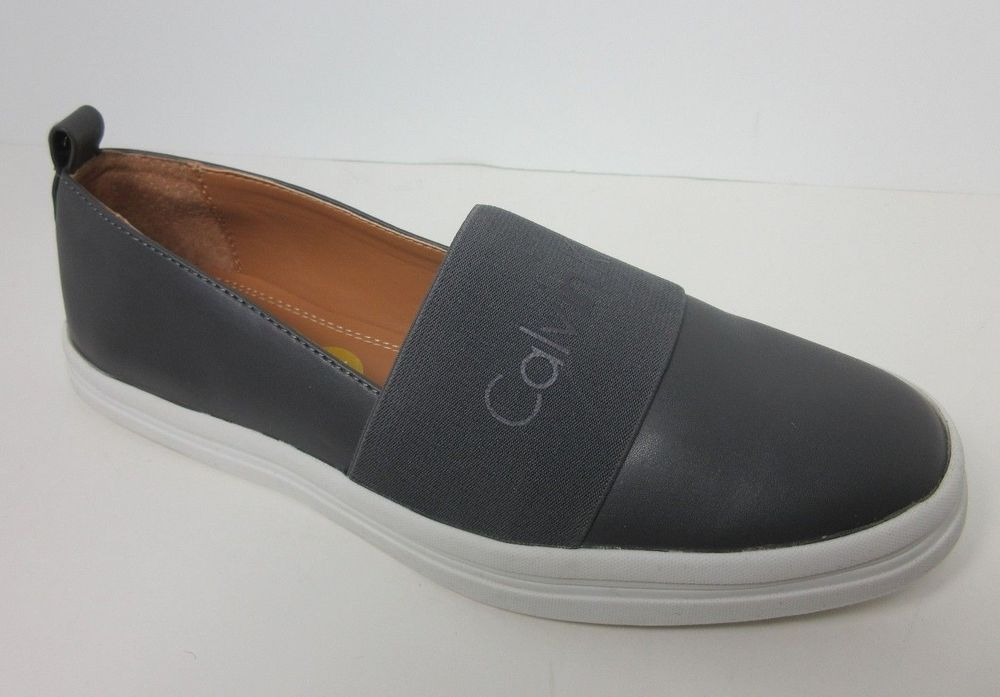 eb643f443a1 Calvin Klein Women s Designer Gray Morina Slip-On Sneakers Flats Shoes Size  8 M  CalvinKlein  Flats  AnyOccasion