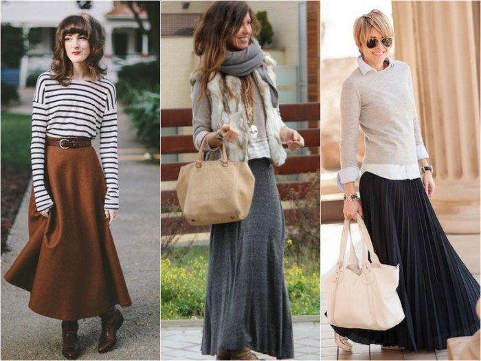 b1ed73c02ad Как и с чем носить длинную юбку зимой